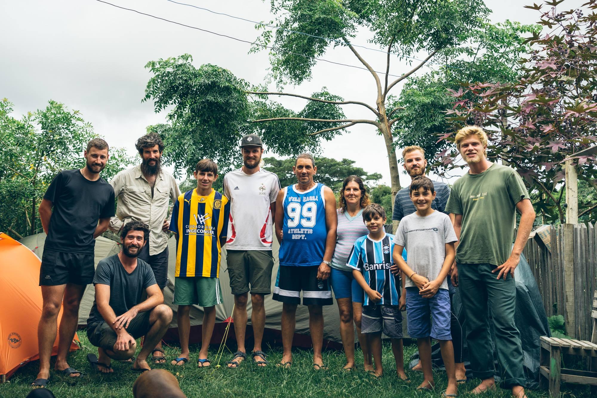 A Bojuru avec toute l'équipe