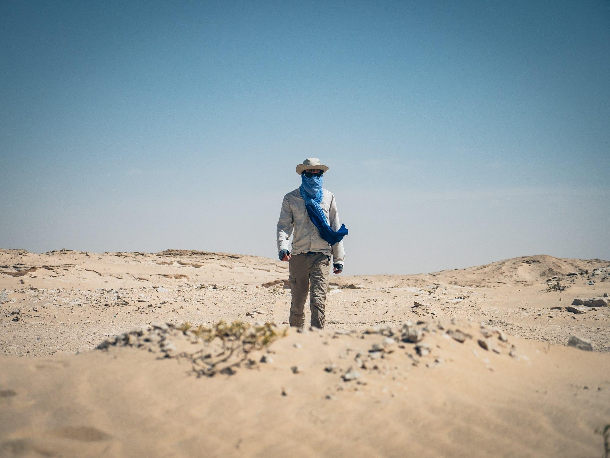 On doit se protéger du sable