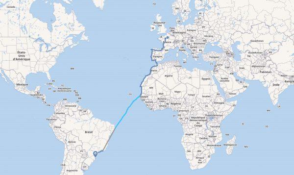 Travel Map janvier 2019